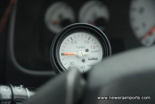 Original option matching boost gauge.