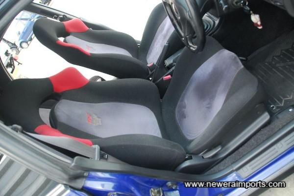 Driver's seat is in excellent unworn condition.