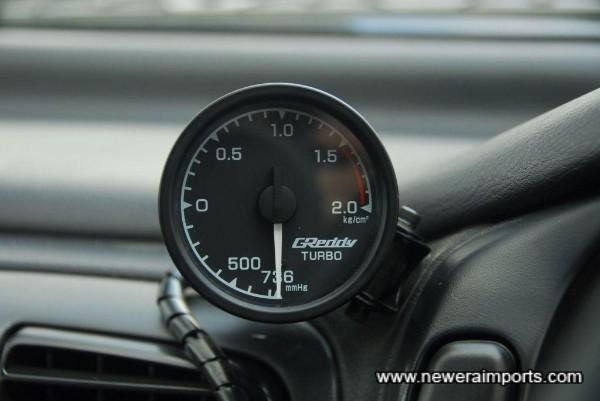 Greddy boost gauge is fitted.