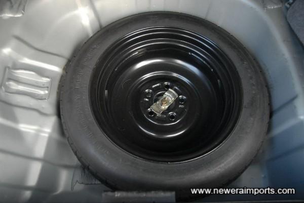 Spare wheel is unused.