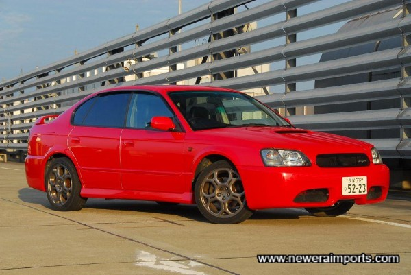 Red paintwork suits this car well.