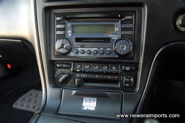 Original Toyota Audio equipment.