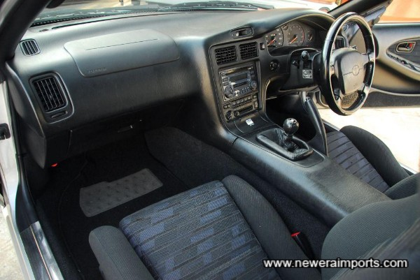 Interior is in excellent original condition in keeping with low mileage.