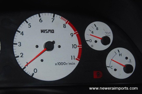 Oil pressure is healthy when warm (Idle).