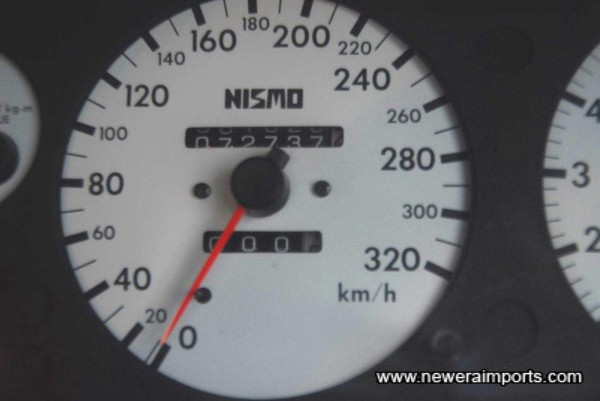 Odometer shows km - Nismo clocks fitted since new.