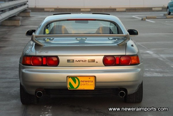 Rev 5 model has an adjustable rear spoiler.