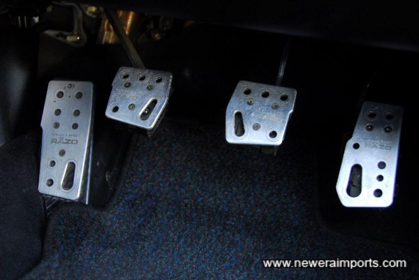 Razo alloy pedal covers.