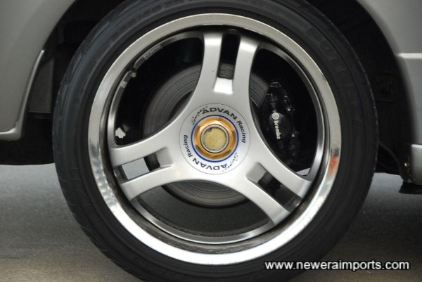 Wheel rims have some marking under the laquer and could benefit from being re-finished.