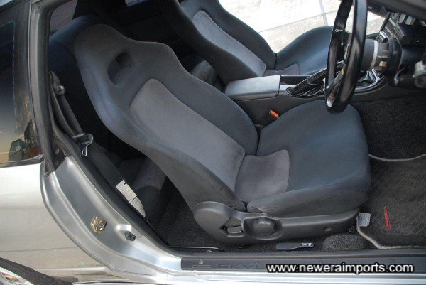 Driver's seat is in good condition.