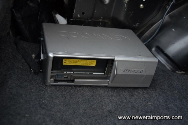 CD changer with cassette.