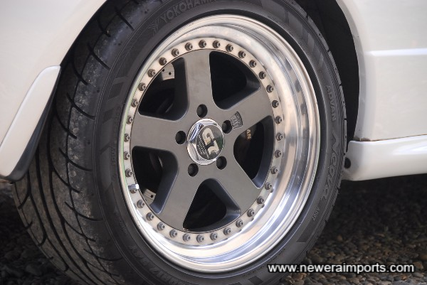 These Panasport G7 wheels with near new Advan AD07 sports tyres are available for this car at very reasonable cost!