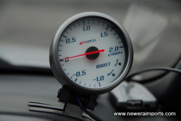 Apexi Boost gauge.