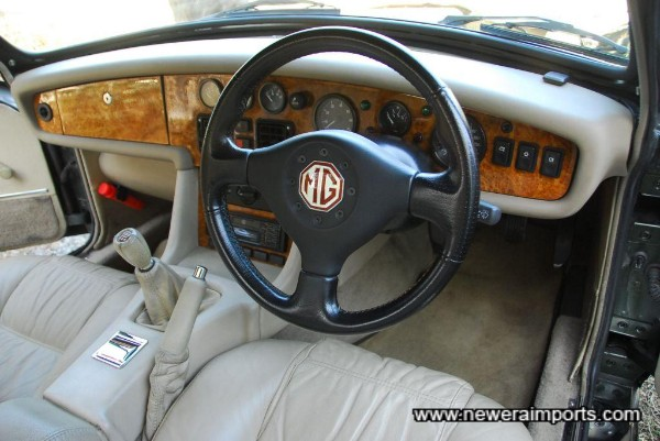 Dashboard is in perfect condition.