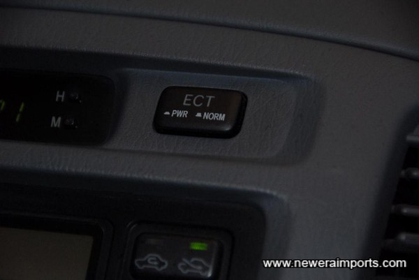 Auto transmission can be set to norm / power mode.