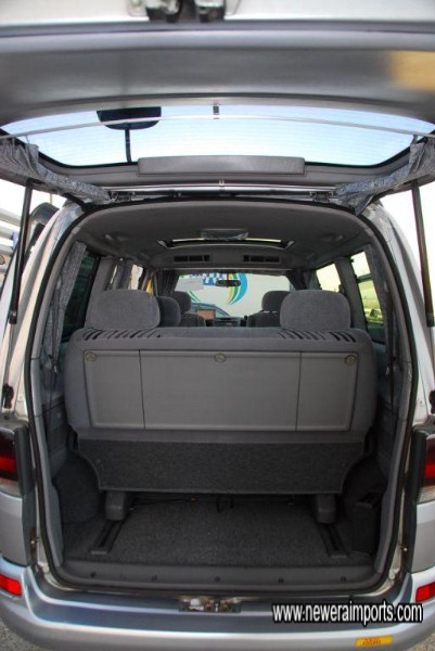 Cavernous luggage capacity, especially with rear seats folded.