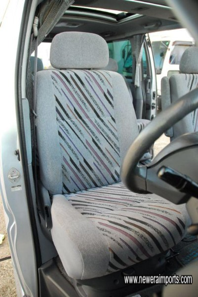 Driver's seat is unworn, in keeping with low genuine mileage.