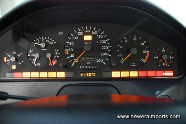 All warning lights are present and correct