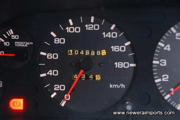 Speedometer shows total mileage in km (65,064 miles).