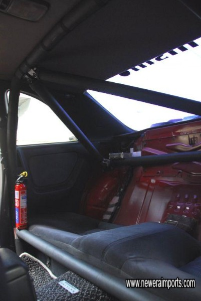 Cusco 5 point rear roll cage. Note matching rear seat upright section is also included but not shown.