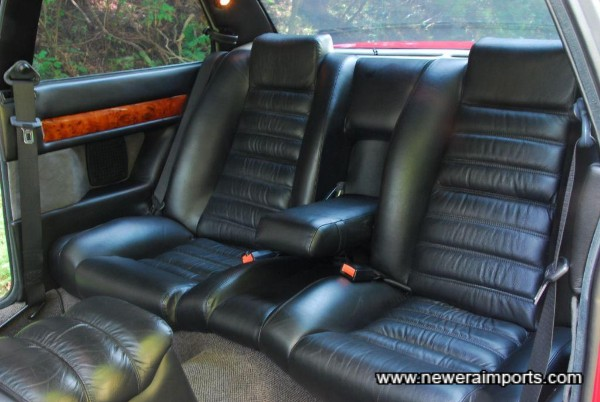 Comfortable rear seats. Cleverly designed front seat rails move the chair forward automatically to allow rear occupants to get in.