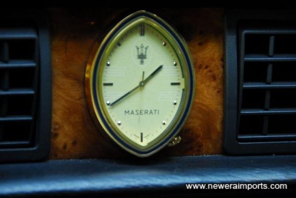 Classic Maserati clock.
