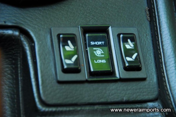 Electric seats and turbo timer fitted as standard.