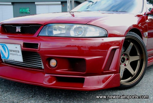 Genuine 400R Nismo front bumper spoiler and under diffuser set.