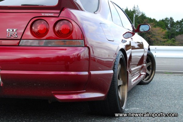 Check how well the wheels sit in the arches!