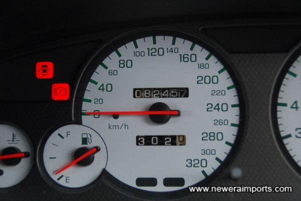 Nismo cluster replaced original at exactly 3,872km (14th Sept 1995).
