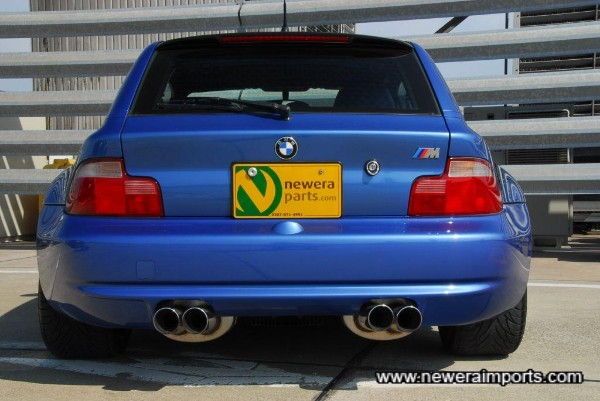 The rear end has performance written all over it's rump.