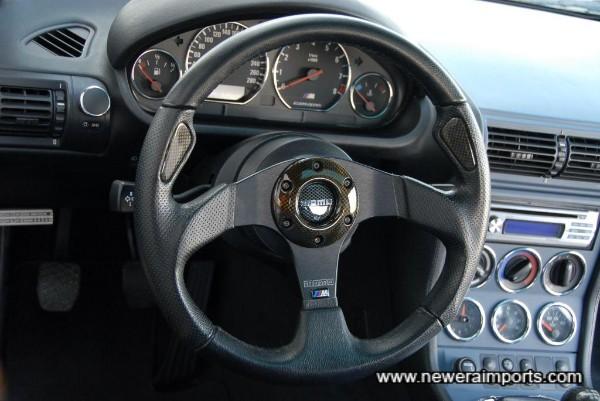 Momo Jet steering wheel.