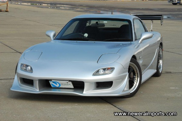 Unmarked condition RX-7 with top quality improvements!