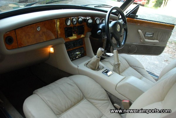 Interior's in excellent condition - all the veneer is in beautiful condition. No delamination from moisture damage.