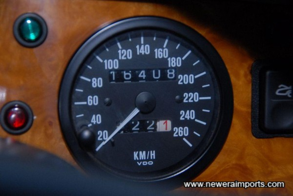 Odometer shows total distance covered in km (18,198 miles from new).