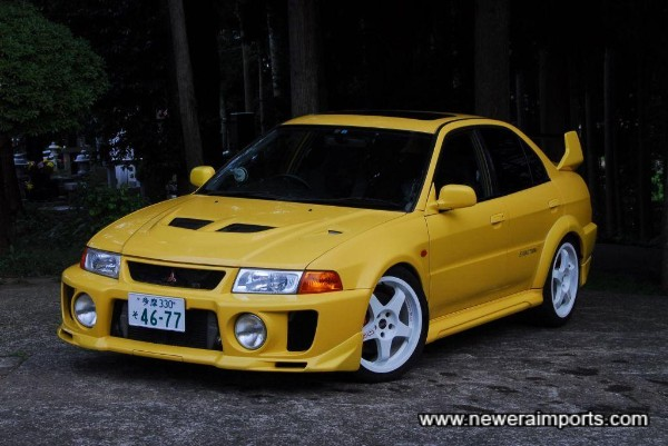The most agressive design of all for Mitsubishi's Evo's!