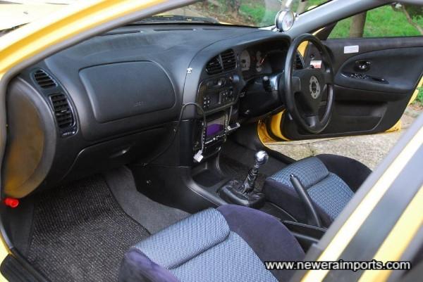 Interior's in excellent condition - in keeping with the car's low genuine mileage.