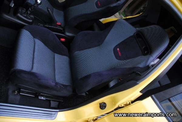 Recaro seats are in excellent condition.
