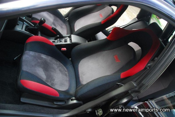 Seats are unworn in keeping with low genuine mileage.
