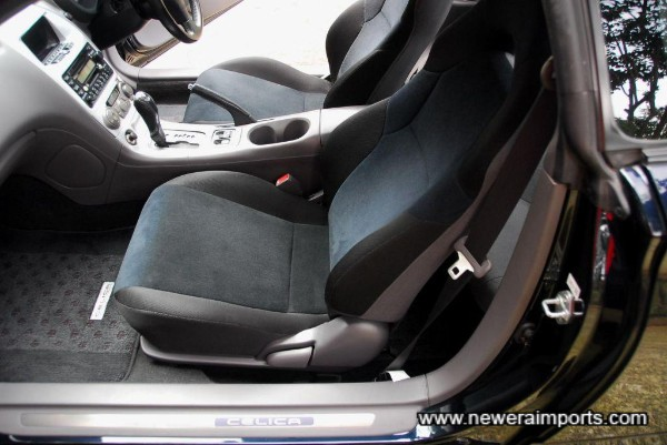 comfortable sports seats.