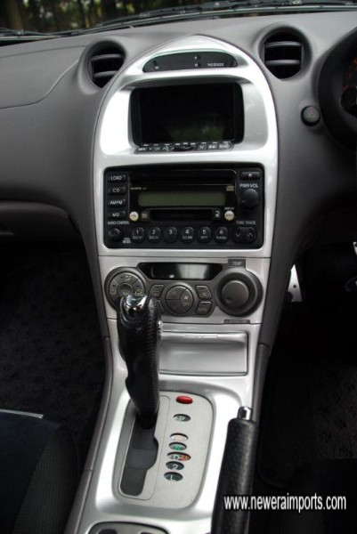 Centre console shows TV fitted. This may be replaced with a cubby box if preferred.