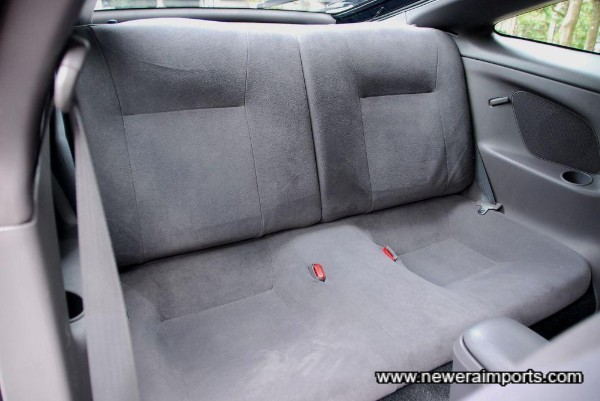 Rear seat folds flat for when larger luggage needs to be carried.