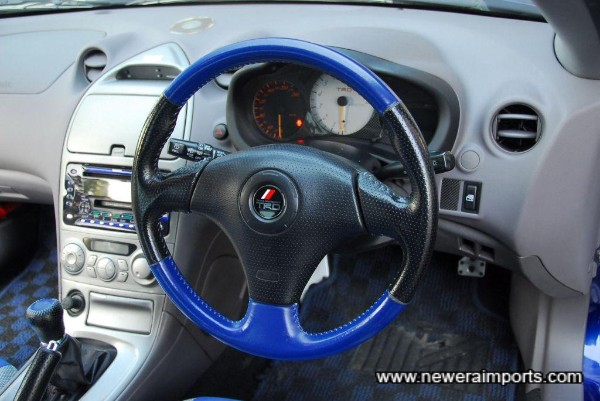 TRD SRS leather covered steering wheel.