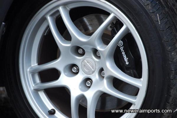 17'' R33 GT-R wheels. Refurbished with near new Yokohama Advan tyres.