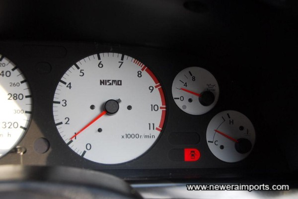 Oil pressure when warm - a sign of a healthy engine.