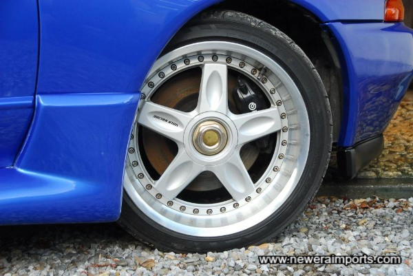 RAYS 18'' wheels - brand new tyres to be fitted prior to completion.