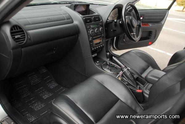 Full leather interior.