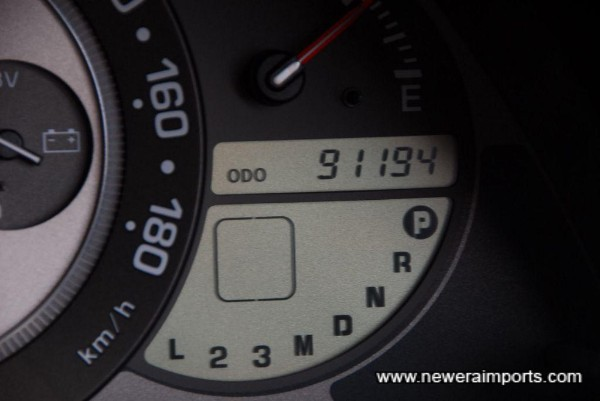 Odometer shows mileage (km) at time of taking picture.