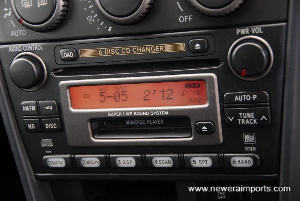 High quality surround sound system includes in-dash 6 CD changer.