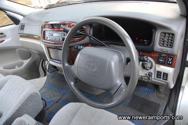 Steering wheel is unworn in keeping with low kms.