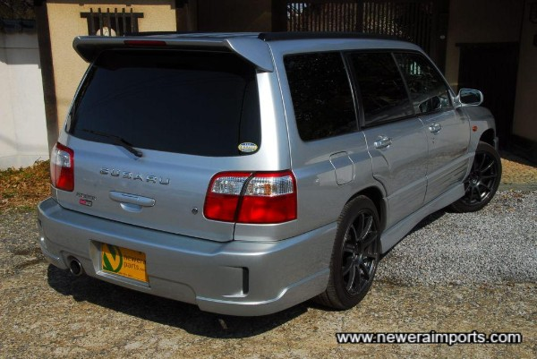 Forester Sti II Type M includes restyled rear bumper design.